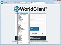 MDaemon - WorldClient - Select Language